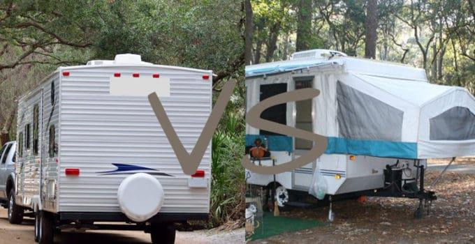 travel trailer vs tent trailer
