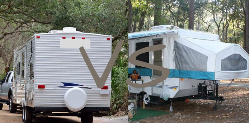 travel trailer vs tent trailer