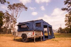 Travel limitations on a camper trailer