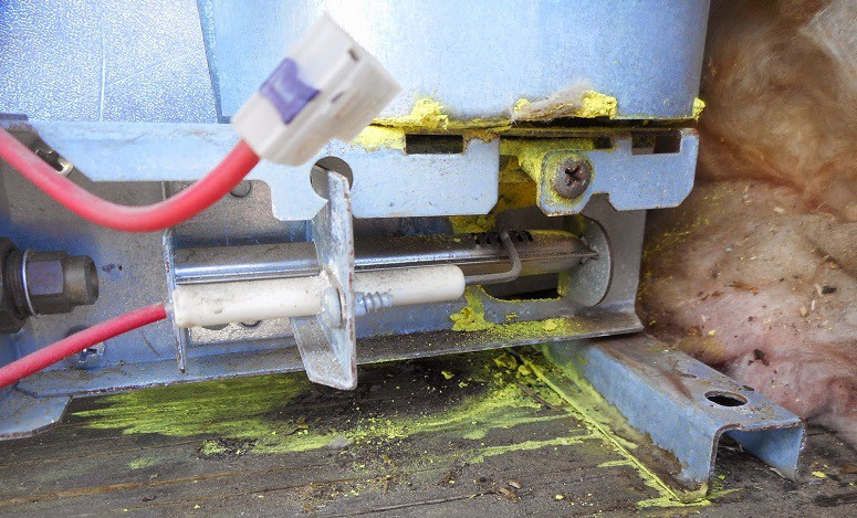 RV fridge repair in case of the cooling system and RV refrigerator problems with leakage