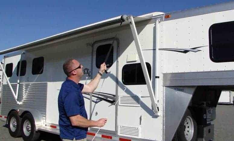 How to reattach the awning after camper awning repair work?