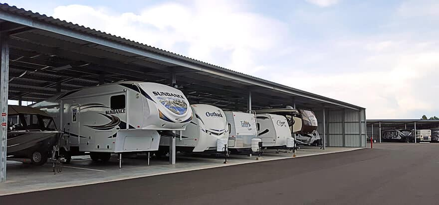 Travel trailer depreciation caused by poor storage habits
